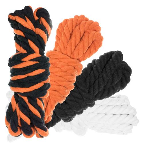 """1/2"""" Twisted Cotton Rope 40' Kit - Jack O'Lantern"""