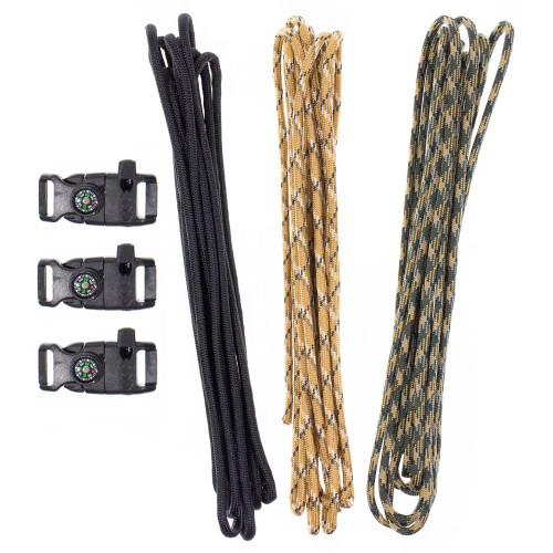 850 Platinum Paracord Kit (Paracord & Buckles)