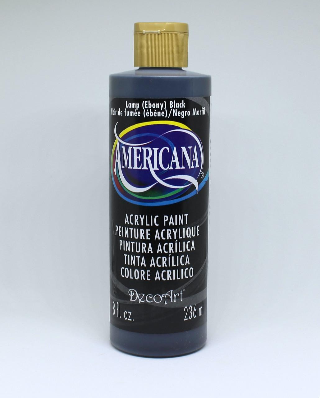 Decoart Acrylic Paint Lamp Black 8 Oz Gaunt Industries