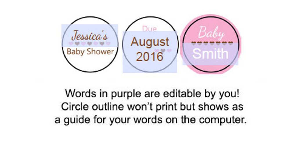 It's a girl Printable baby shower stickers