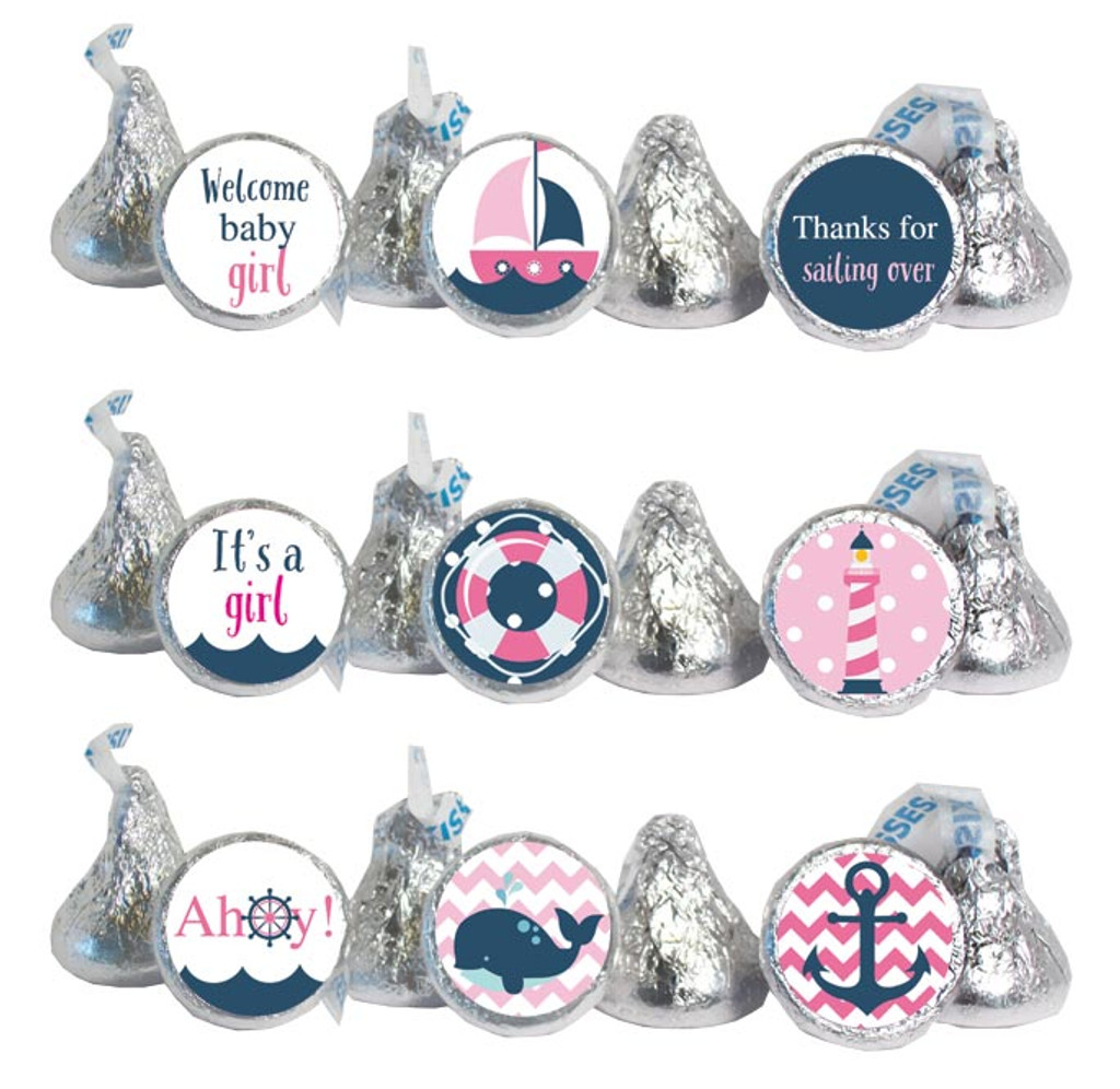 Nautical Girls Mini Candy Stickers 108 Labels
