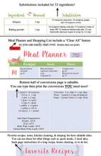 Flower Printable Recipe Book Template Editable PDF