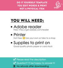 Editable Pink School Sign Printable Poster