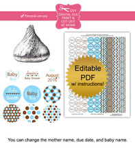 It's a boy Printable baby shower stickers