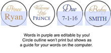 Prince Gold printable baby shower stickers