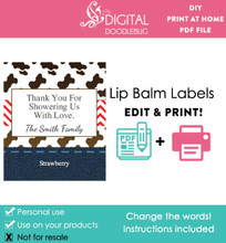 Western Printable Lip Balm Labels