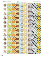 Jungle Animals Mini Candy Stickers 108 Labels