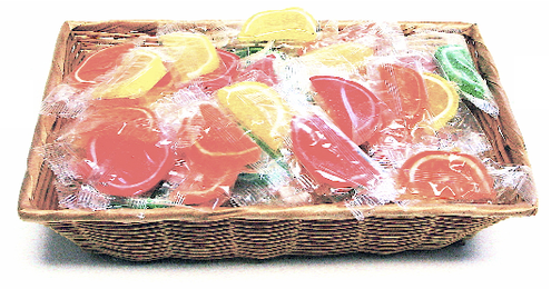 Gift Basket Filled with 3 lbs of Sugar Free Fruit Slices