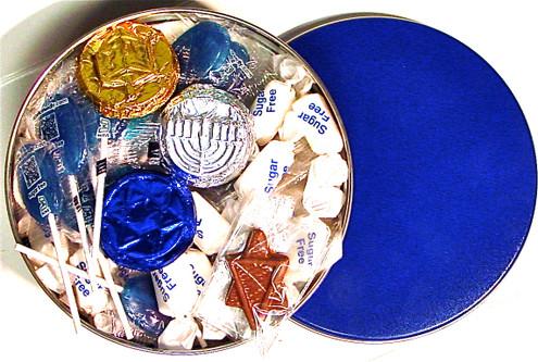 Sugar free hanukkah gift tin
