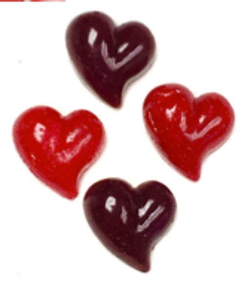 Sugar Free Hard Candy Hearts, Set of 4 -  .5 oz each, GIFT BAGGED