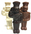 6 inch Tall Nutcracker Soldier, Sugar free Solid Chocolate, 3-D, (about 5.5 oz) Handmade, Individually Wrapped