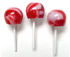 Diabeticfriendly's Sugar Free, Hard Candy, CAP POPS - PEPPERMINT, .6 oz,  Individually Wrapped, Set of 6, Handcrafted in Ohio