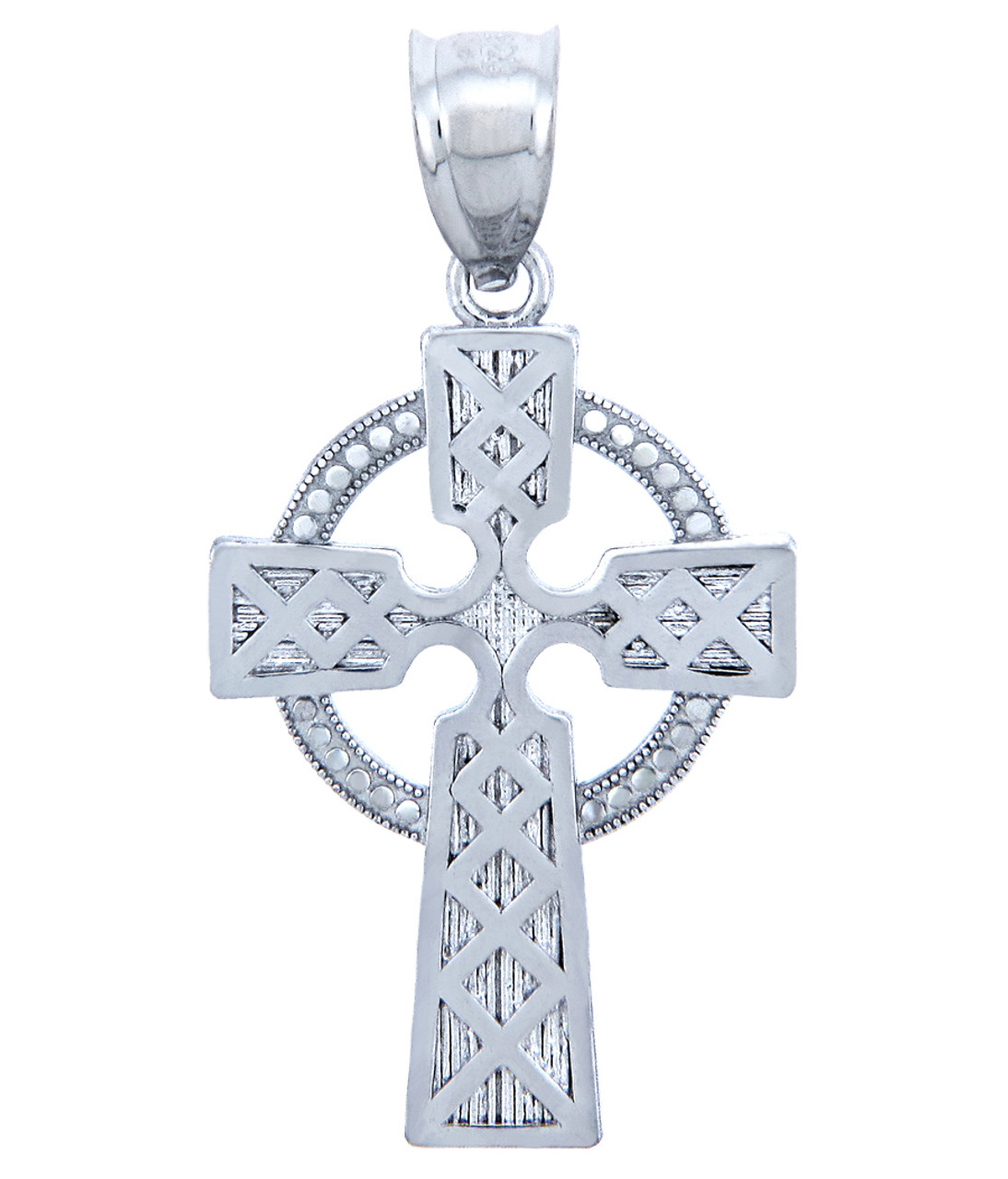925 sterling silver irish cross pendant aloadofball Image collections