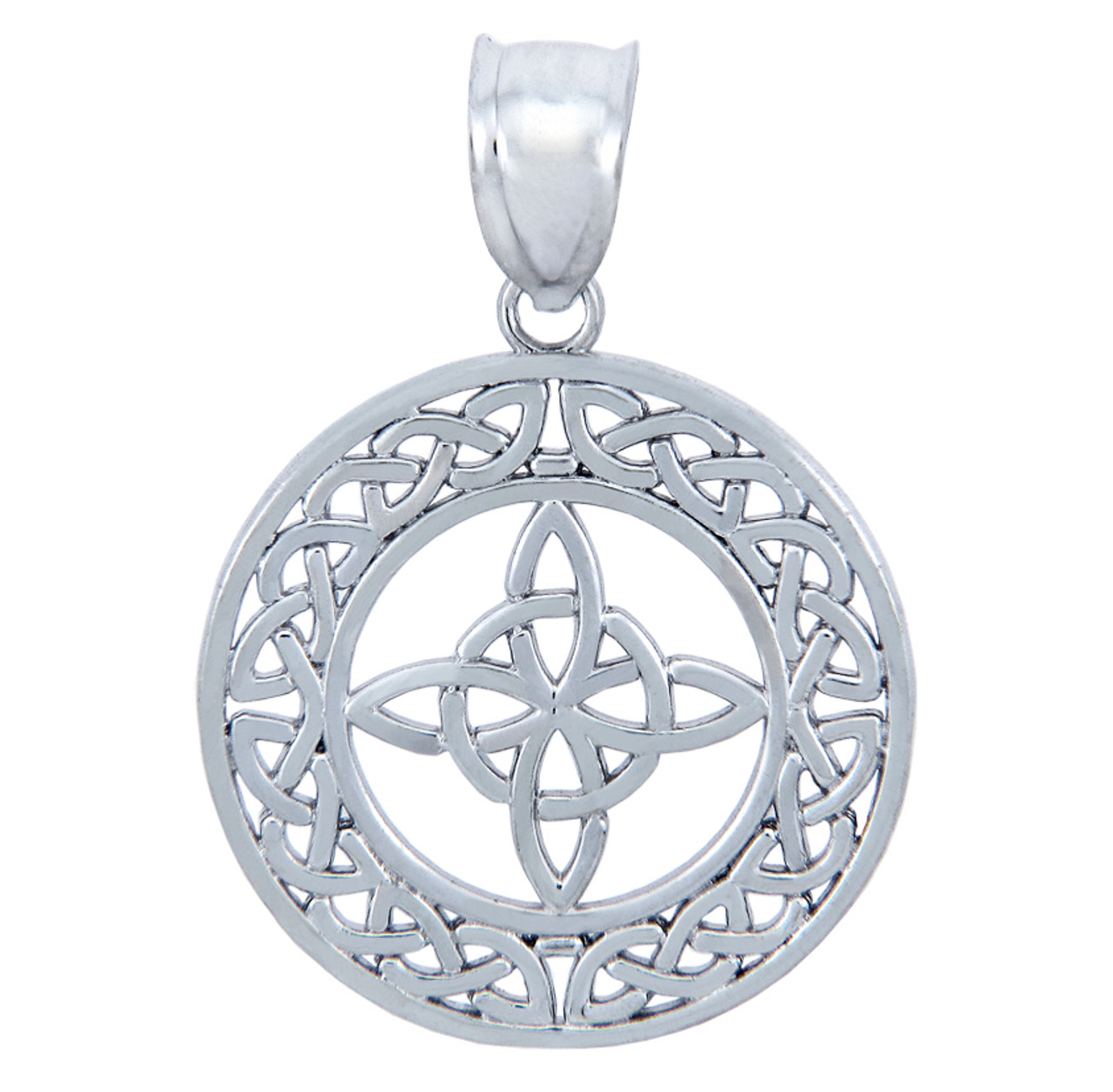 cord style pewter at on celtic trinity with knot pendant