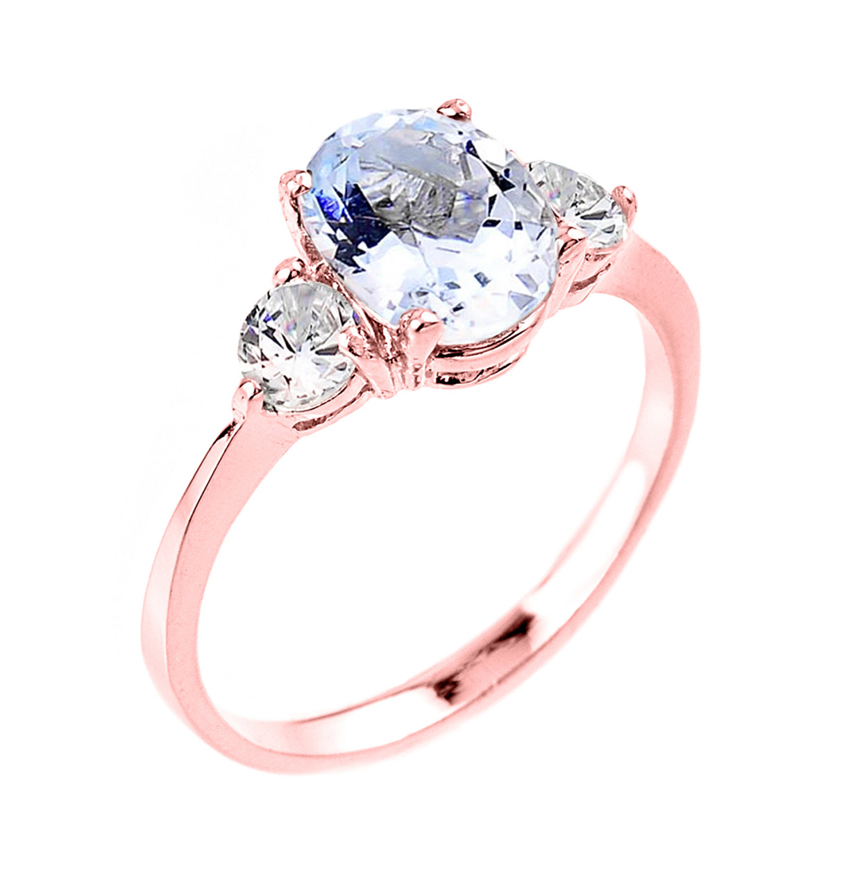 claw cut rose gold engagement rings diamond round ring halo coloured and prongs band morganite