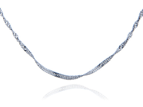 Singapore 925 Sterling Silver Chain 1.52 mm