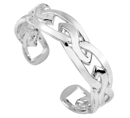 925 Sterling Silver Trinity Toe Ring  [RGN1015SILVER]