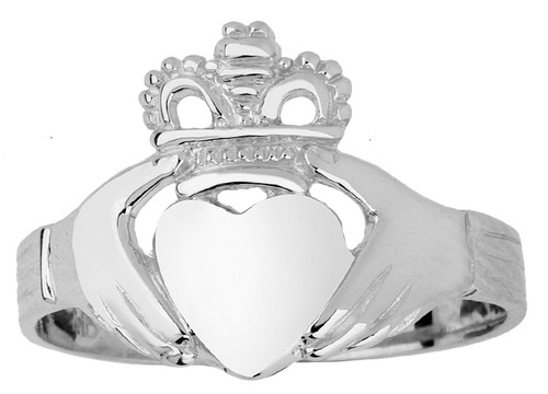 Silver Claddagh Ladies Ring Traditional