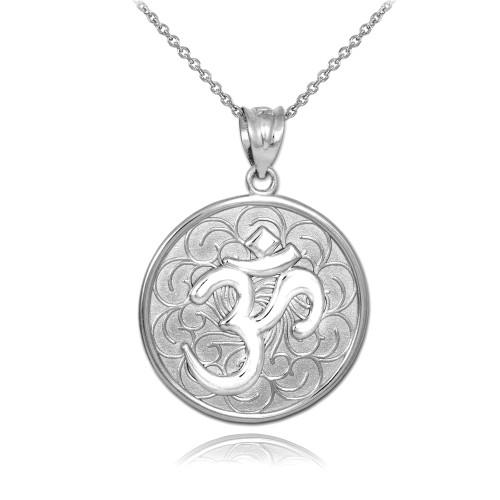 Relatively Pendants & Necklaces - OM Symbol Necklaces - Claddagh Silver AF04