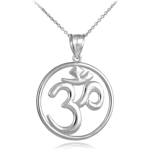 Finest Pendants & Necklaces - OM Symbol Necklaces - Claddagh Silver SA38
