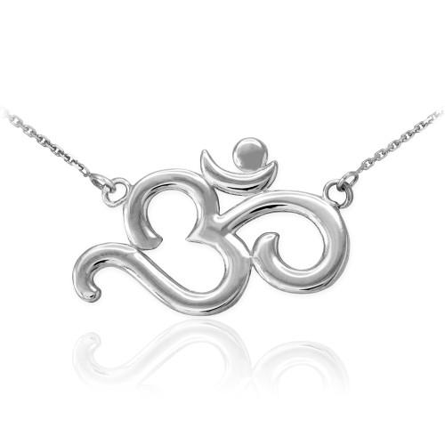 Very Pendants & Necklaces - OM Symbol Necklaces - Claddagh Silver JR81
