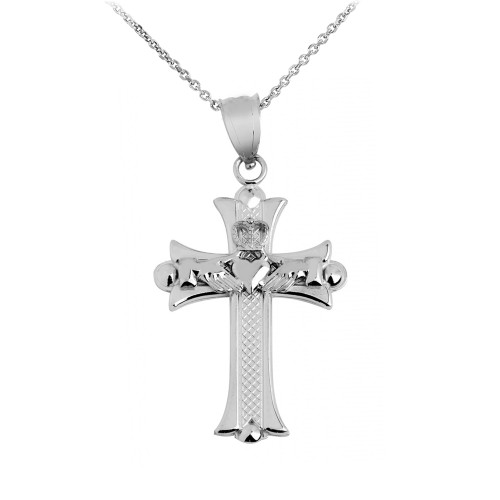 Kids baby charms and pendants page 1 claddagh silver claddagh cross silver pendant necklace aloadofball Gallery