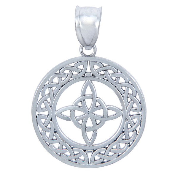Sterling silver round trinity celtic pendant 925 sterling silver round trinity celtic pendant mozeypictures Images