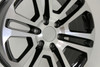 "Black and Machine 20"" Split Spoke Wheels for Chevy Silverado, Tahoe, Suburban - New Set of 4"
