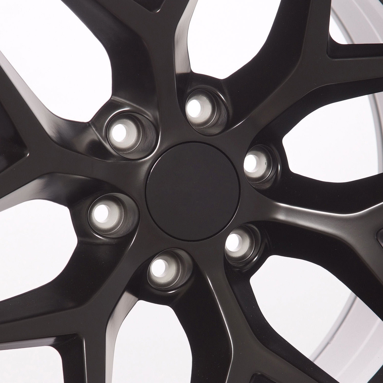 "Satin Matte Black 20"" Snowflake Wheels with Goodyear Tires for Chevy Silverado, Tahoe, Suburban - New Set of 4"