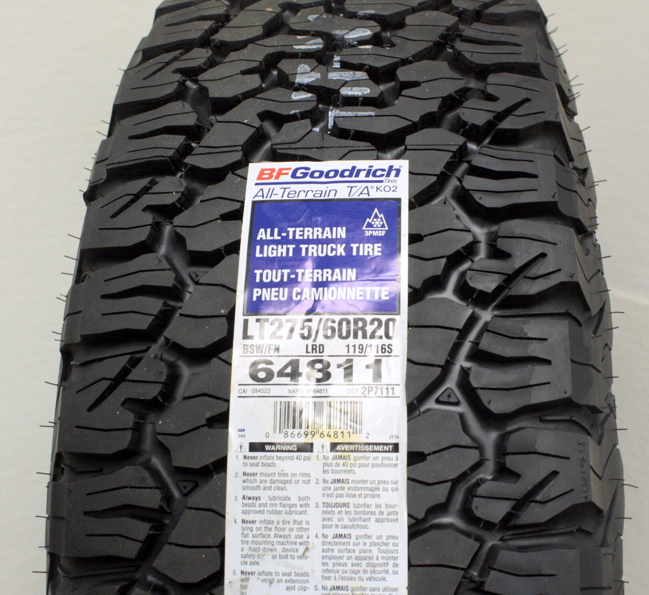 "Chrome 20"" Eight Spoke Wheels with BFG KO2 A/T Tires for Chevy Silverado, Tahoe, Suburban - New Set of 4"