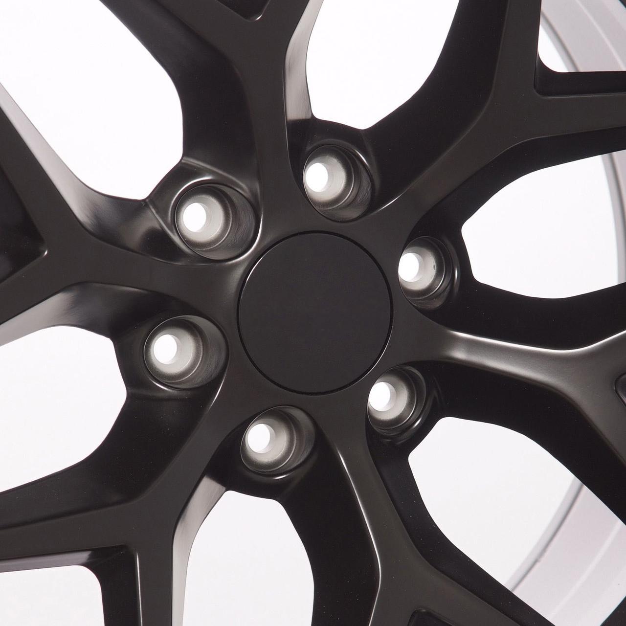 "Satin Matte Black 20"" Snowflake Wheels for GMC Sierra, Yukon, Denali - New Set of 4"
