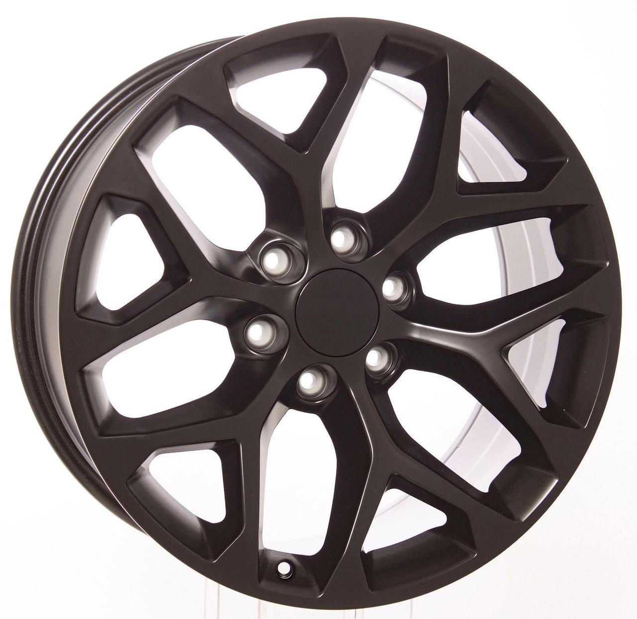 "20"" satin black snowflake for GMC Trucks and SUVs"