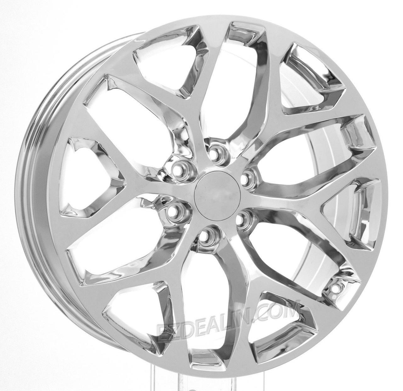 All Chevy chevy 22 inch rims : 22 inch Chrome Snowflake for Chevy Silverado, Tahoe, Suburban