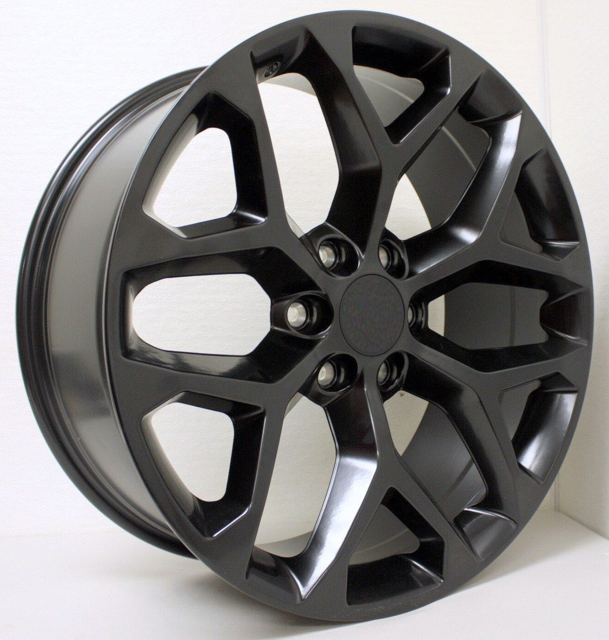 All Chevy black chevy rims : Chevy Style Satin Black Snowflake 22 inch Wheels