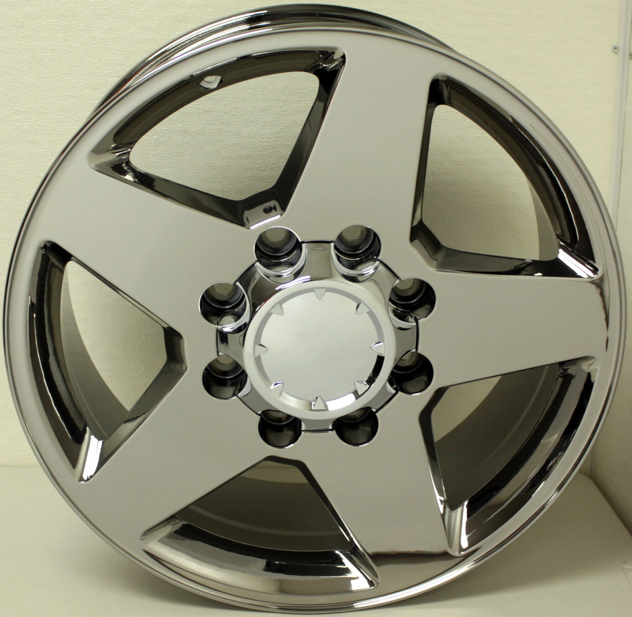 "Chrome 20"" 8 Lug 8x180 5 Spoke Wheels for 2011-2018 GMC 2500 3500 - New Set of 4"