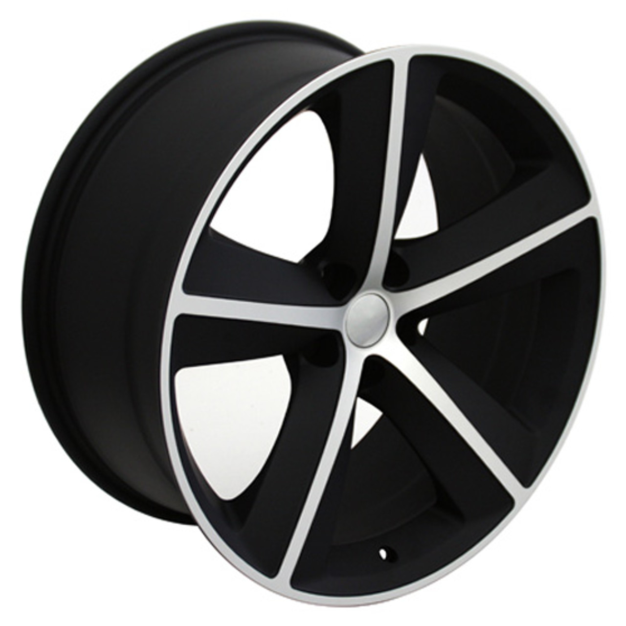 "Set Of Four 20"" Dodge Charger/Challenger Satin Black And Machine Wheels Rims"