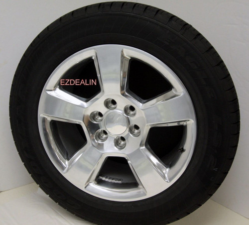 """Polished 20"""" New Style LTZ Wheels with Goodyear Tires for Chevy Silverado, Tahoe, Suburban - New Set of 4"""