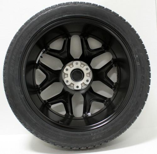 "Satin Matte Black 22"" Snowflake Wheels with Bridgestone Tires for Chevy Silverado, Tahoe, Suburban - New Set of 4"