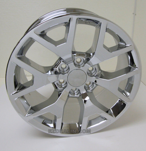 "Chrome 20"" Honeycomb Wheels for Chevy Silverado, Tahoe, Suburban - New Set of 4"