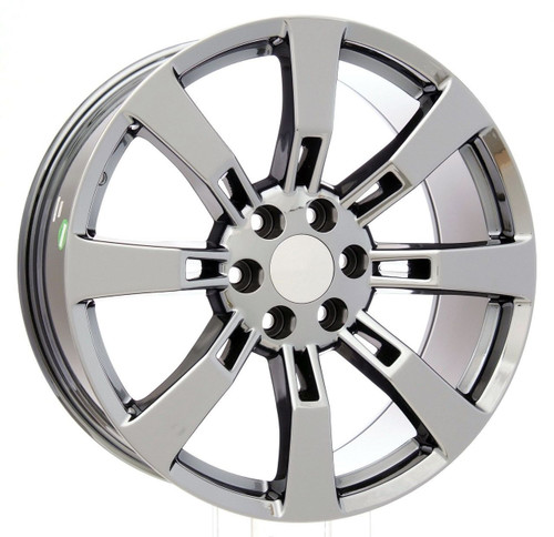 "Chrome 22"" Eight Spoke Wheels for GMC Sierra, Yukon, Denali - New Set of 4"
