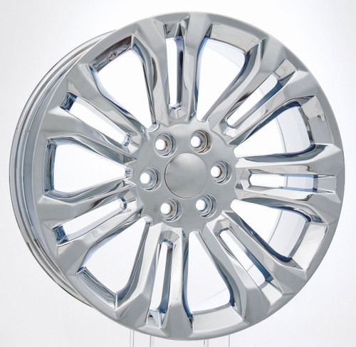 "Chrome 22"" New Style Split Spoke Wheels for GMC Sierra, Yukon, Denali - New Set of 4"