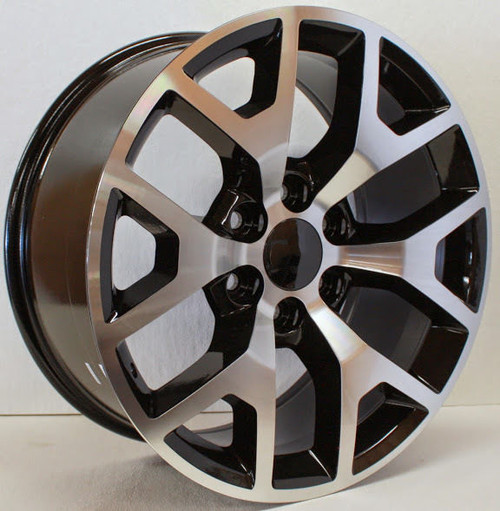 "Black and Machine 22"" Honeycomb Wheels for GMC Sierra, Yukon, Denali - New Set of 4"