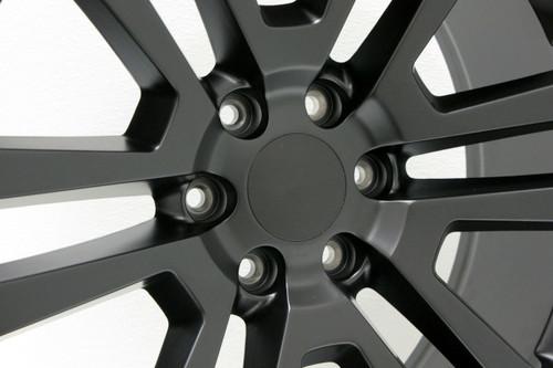 "Satin Matte Black 22"" Split Spoke Wheels for GMC Sierra, Yukon, Denali - New Set of 4"