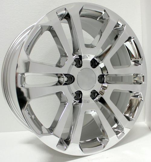 """Chrome 20"""" Split Spoke Wheels for GMC Sierra, Yukon, Denali - New Set of 4"""