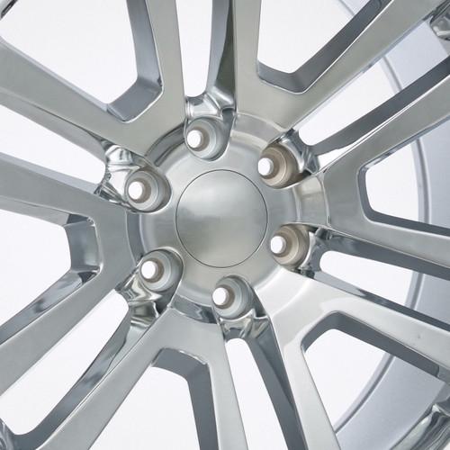 "Chrome 22"" Split Spoke Wheels for Chevy Silverado, Tahoe, Suburban - New Set of 4"