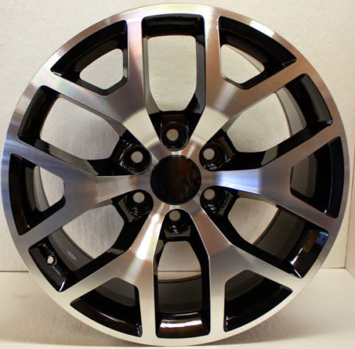 "Black and Machine 22"" Honeycomb Wheels for Chevy Silverado, Tahoe, Suburban - New Set of 4"