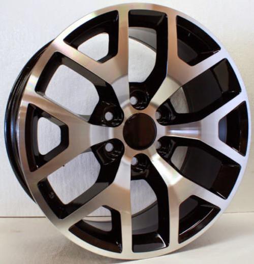 "Black and Machine 22"" Honeycomb Wheels for Chevy Silverado, Tahoe, Suburban - New Set of 4"