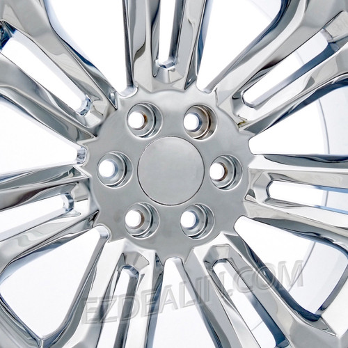 "Chrome 22"" New Style Split Spoke Wheels with Bridgestone Tires for GMC Sierra, Yukon, Denali - New Set of 4"