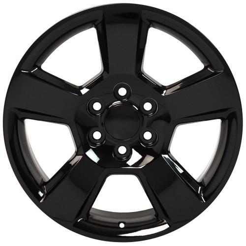 "Gloss Black 20"" New Style LTZ Wheels for Chevy Silverado, Tahoe, Suburban - New Set of 4"