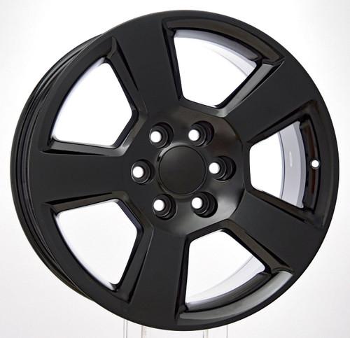 "Gloss Black 20"" New Style LTZ Wheels for GMC Sierra, Yukon, Denali - New Set of 4"